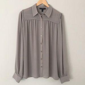 ⭐️Banana Republic braided neck blouse